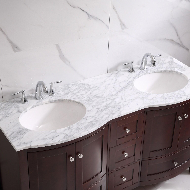 Shop Eviva Stanton 60 Bathroom Vanity In Teak Overstock 28881826