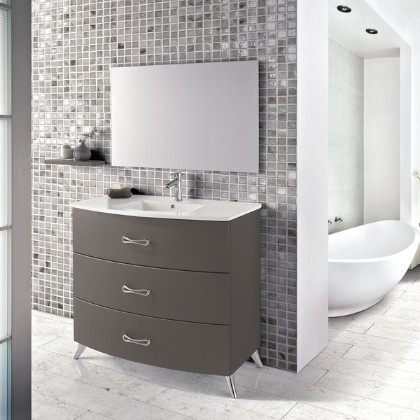 "Eviva Bari 24"" Grey Freestanding Vanity"