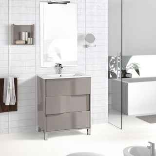 "Eviva Toronto 32"" Cement Grey freestanding Vanity"