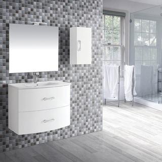 """Eviva Bari 24"""" White Wall mount Vanity - N/A"""