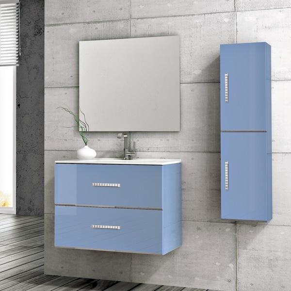 """Eviva 32"""" Daytona Blue Bathroom Vanity - N/A"""