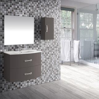 """Eviva Bari 24"""" Grey Wall mount Vanity - N/A"""