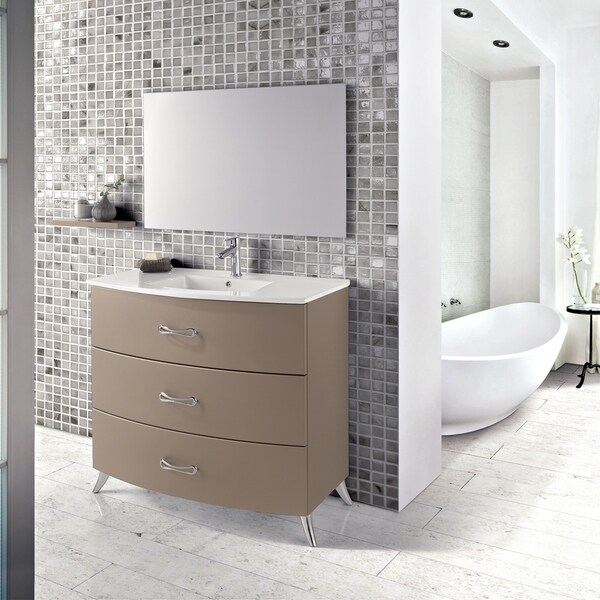 "Eviva Bari 24"" Grey Freestanding Vanity - N/A"