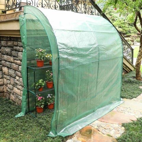 3.3' x 6.6' x 7.0' Outdoor Portable Walk in Garden Greenhouse
