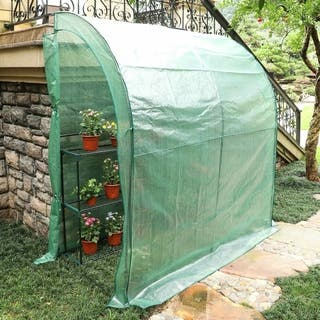 3.3' x 6.6' x 7.0' Outdoor Portable Walk in Garden Greenhouse
