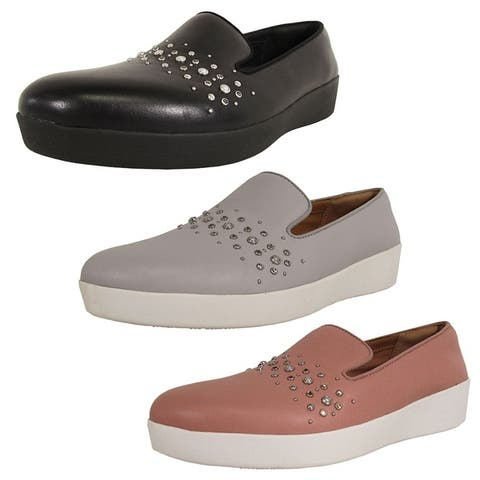Fitflop Womens Audrey Pearl Stud Smoking Slipper Shoes