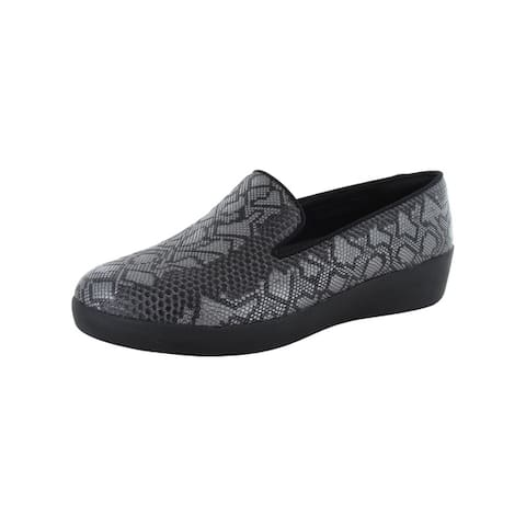 Fitflop Womens Audrey Python Print Smoking Slipper Shoes