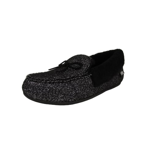 Fitflop Womens Clara Glimmerwool Moccasin Slipper Shoes