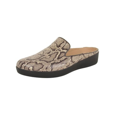 Fitflop Womens Superskate Leather Slip On Mule Shoes