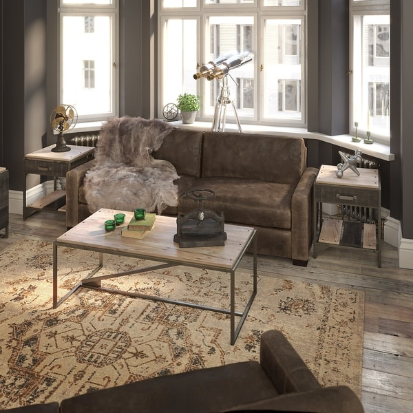 Carbon Loft Refinery Coffee Table with Set of 2 End Tables