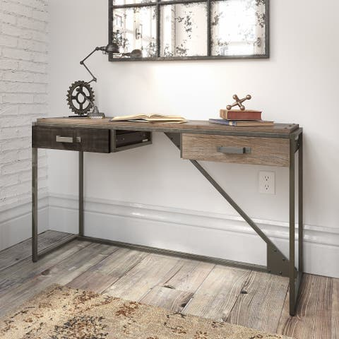Carbon Loft Refinery Console Table with Drawers in Rustic Gray