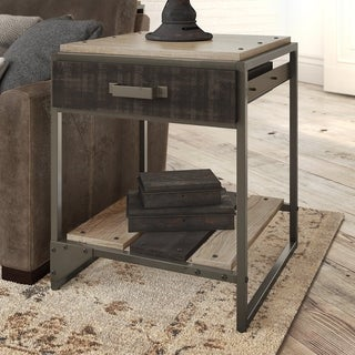 Carbon Loft Refinery End Table with Drawer