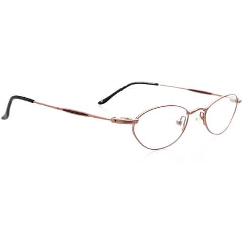 Optical Eyewear - Oval Shape, Metal Full Rim Frame - Prescription Eyeglasses RX