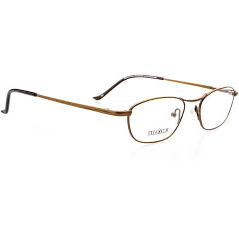 Optical Eyewear - Rectangle Shape, Titanium Full Rim Frame - Prescription Eyeglasses RX