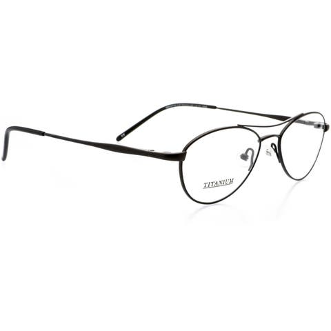 Optical Eyewear - Aviator Shape, Titanium Full Rim Frame - Prescription Eyeglasses RX