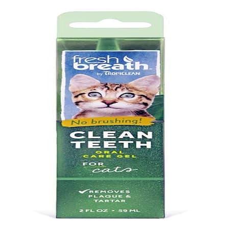 TropiClean Clean Teeth Oral Care Gel for Cats 2oz