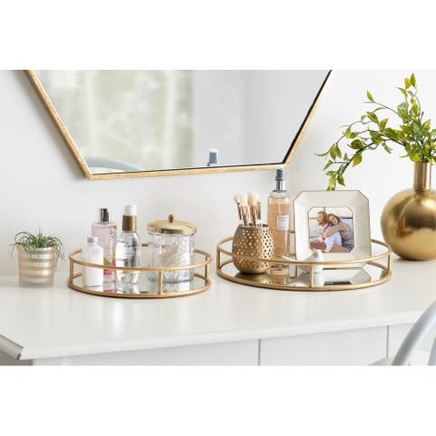 Kate and Laurel Felicia Round Nesting Trays - 2 Piece