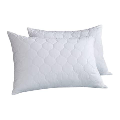 Porch & Den Glen Ellen Quilted Feather/ Down Pillows (Set of 2)