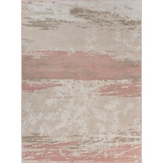 "Abstract Blush Brushstroke Area Rug 5'2"" x 7'2"" - 5'2"" x 7'2"""