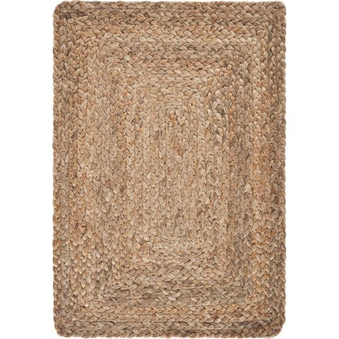 "Classic Braided Natural Jute Place Mat - 1'-1"" X 1'-7"""