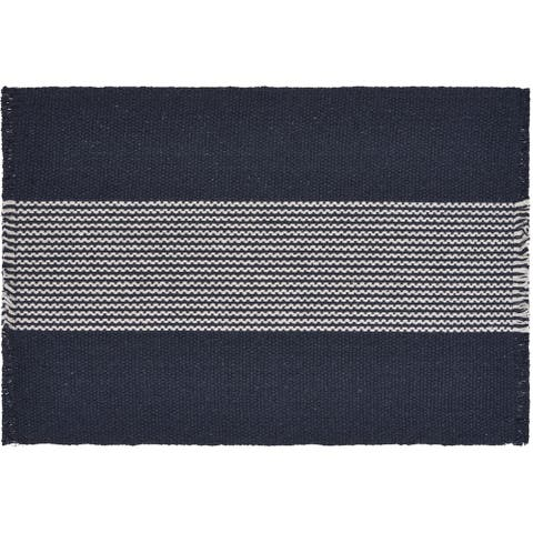 "Bold Striped Navy Place Mat - 1'-1"" X 1'-7"""