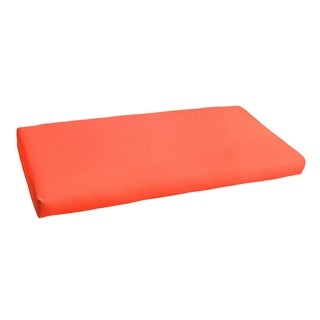 Sunbrella Melon Coral Indoor/Outdoor Bench Cushion - 48 in W x 19 in D