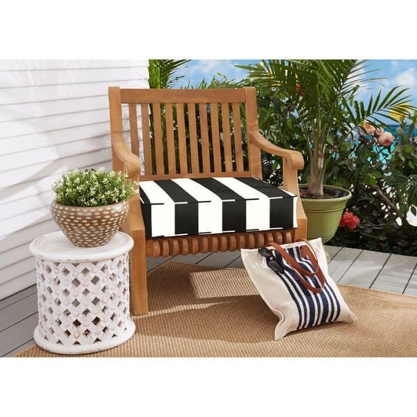Sunbrella Black White Stripe Indoor Outdoor Deep