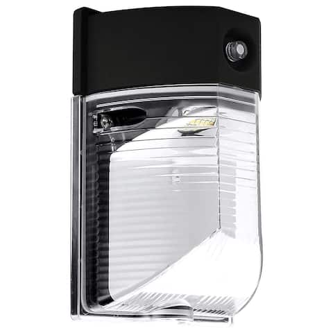 Luxrite 26W LED Wall Pack with Photocell Dusk to Dawn Sensor, 3180 Lumen, 5000K Bright White, 120-277V, IP65, ETL Listed