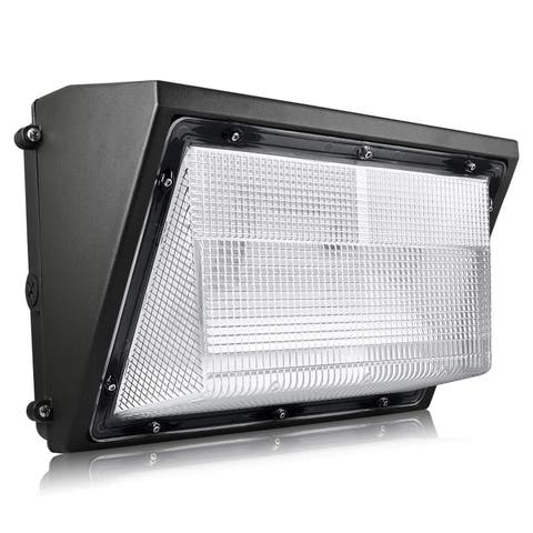 Luxrite 60W Dusk to Dawn LED Wall Pack, 7085 Lumens, 5000K Bright White, IP65 Waterproof, 120-277V, Dimmable, ETL Listed