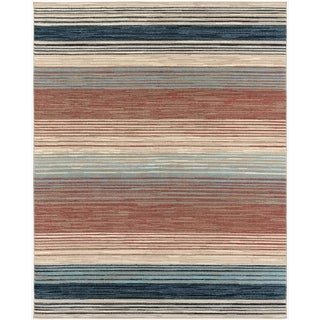 Hanover Indoor/Outdoor Backless Rug with 5000 Hours of UV Protection - Multi-Color Stripe