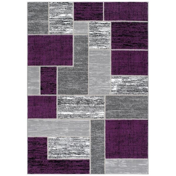 L Baiet Verena Purple Geometric Rug Overstock 28890141