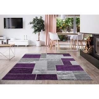 L'Baiet Verena Purple Geometric Rug