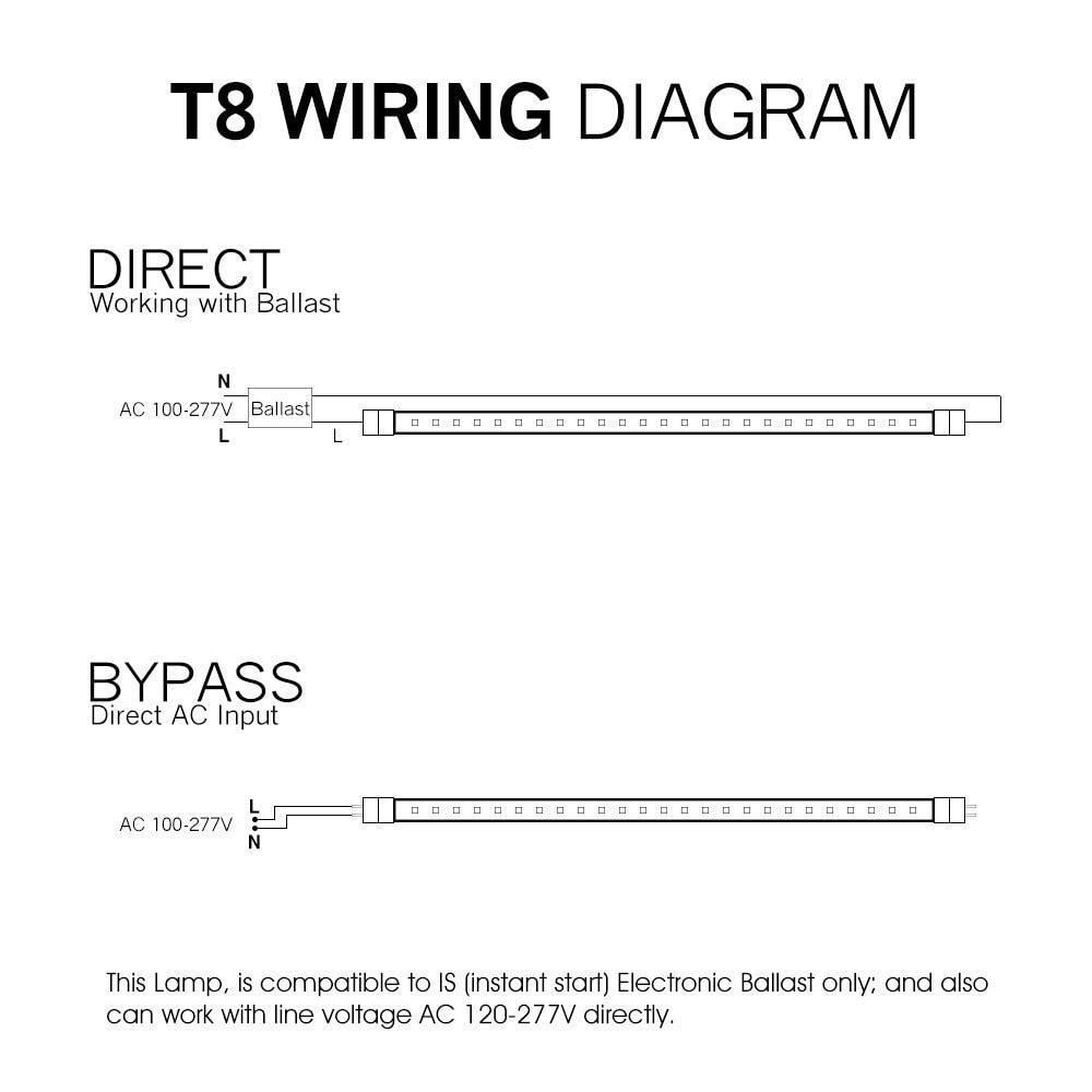 Wiring Diagram For T8 6 Bulb Led Light