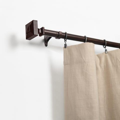 Miranda Haus Gondor Cognac Iron Aluminum Expandable Curtain Rod