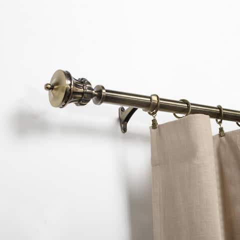Miranda Haus Baton Brass Stainless Steel and Expandable Curtain Rod