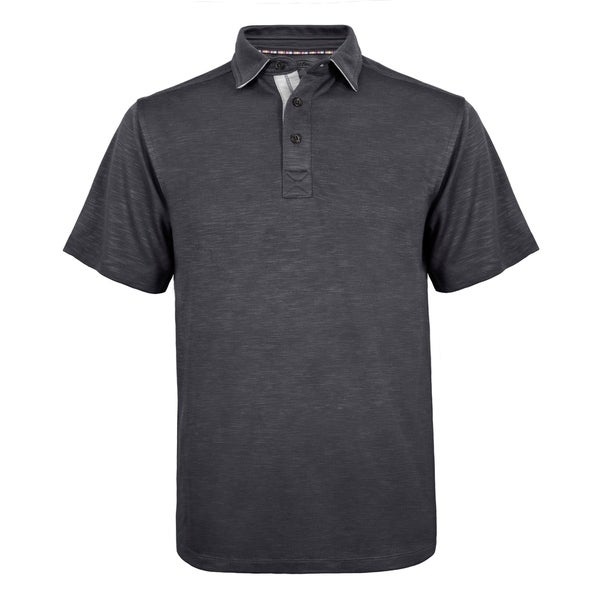 Robert Graham Solid Floral Patterned Cotton Modal Blend Polo Shirt