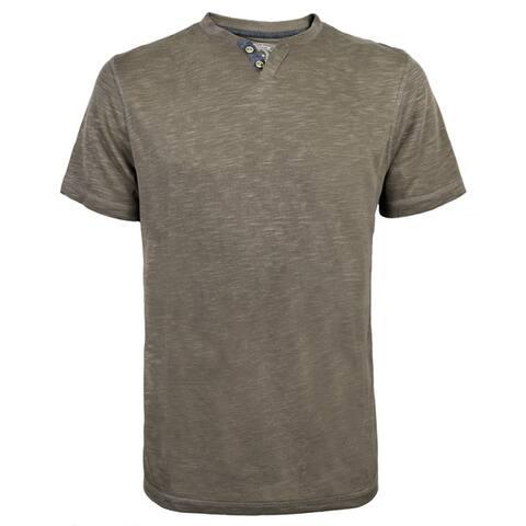 Victory Outfitters Men's Modal Blend Short Sleeve Contrast Trim V-Neck Henley