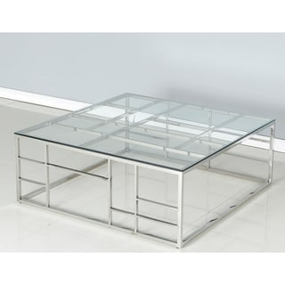 Best Master Furniture Square Glass Coffee Table