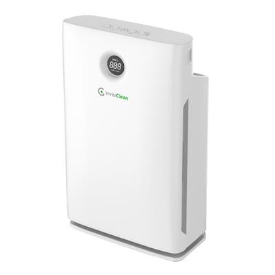 InvisiClean Claro 4 in 1 Air Purifier for Home with True HEPA Filter, Carbon Prefilter, No Ozone, UV-C, Ionizer