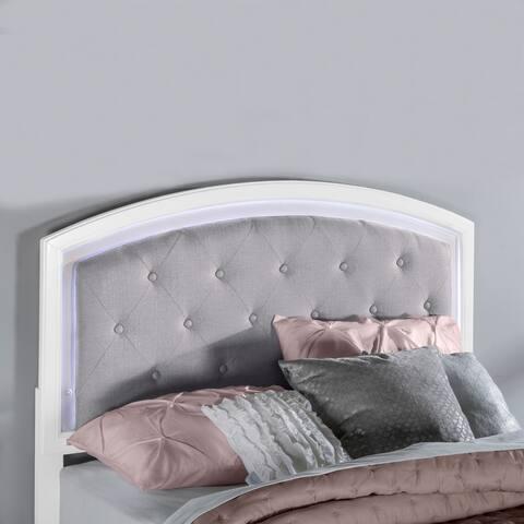 Lyndon Lane Upholstered Panel LED Lighted Headboard
