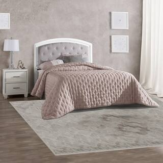 Lyndon Lane Upholstered Panel LED Lighted Headboard and Nightstand (Frame Included)