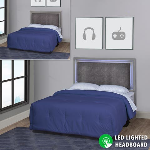 Lyndon Lane Upholstered Panel LED Lighted Headboard (Frame Included)