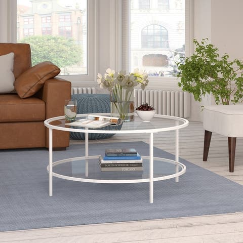 Orwell Gold and Glass Coffee Table
