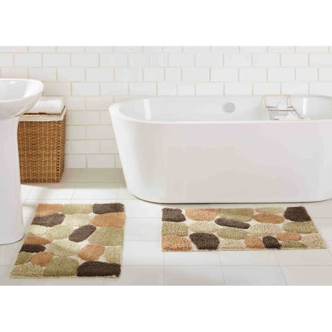 "Chesapeake Pebbles 2 pc Bath Rug Set (20""x32"" & 20""x32"")"