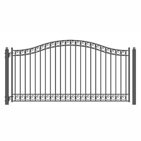 ALEKO Dublin Style Iron Wrought Driveway Single Swing Gate 12' - 12 ft x 6 ft