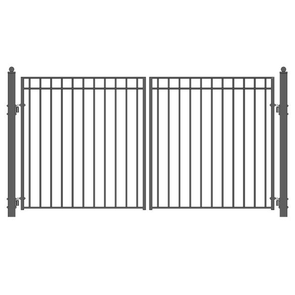 ALEKO Madrid Style Iron Wrought Dual Swing Driveway Gate 16' - 16 ft x 6 ft