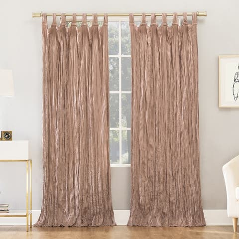 No. 918 Odelia Distressed Velvet Tab Top Curtain Panel