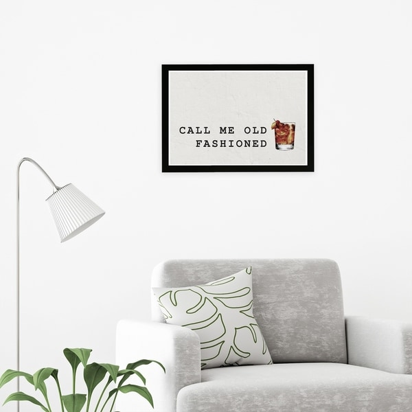 Wynwood Studio 'Mr Old Fashioned' Drinks and Spirits Framed Wall Art Print - White, Brown - 19 x 13