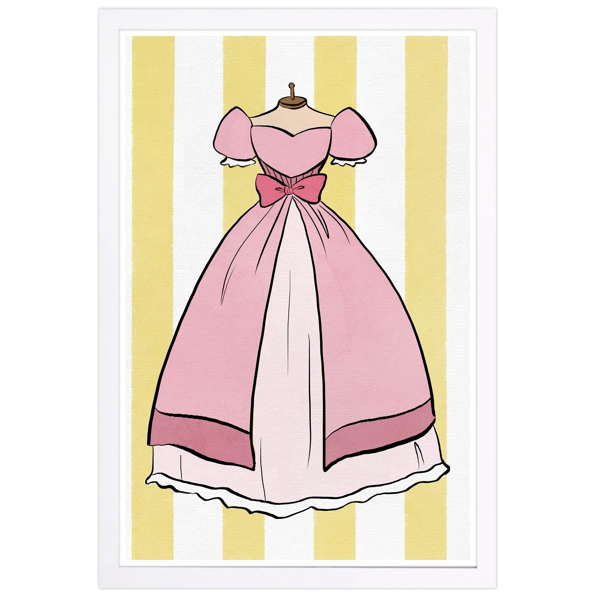 Shop Wynwood Studio Princess Dress Fantasy And Sci Fi Framed Wall Art Print Pink Yellow 13 X 19 On Sale Overstock 28891888