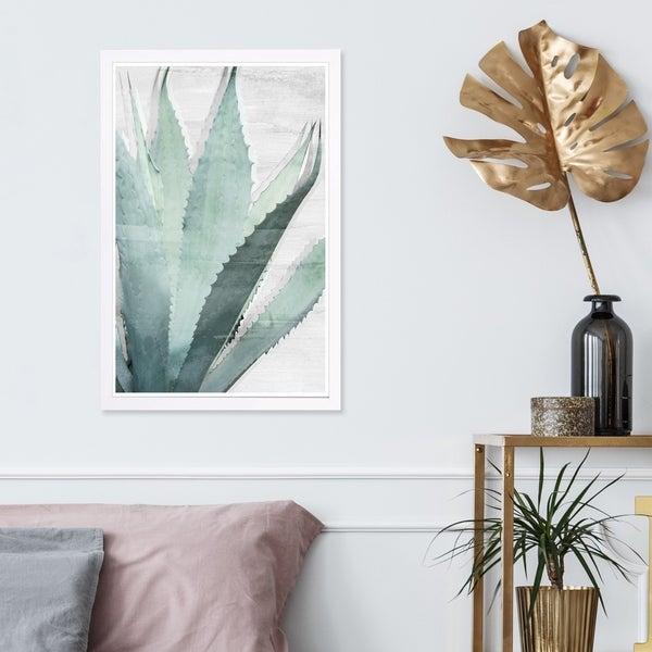 Wynwood Studio 'Nature Neutral' Floral and Botanical Framed Wall Art Print - Green, White - 13 x 19